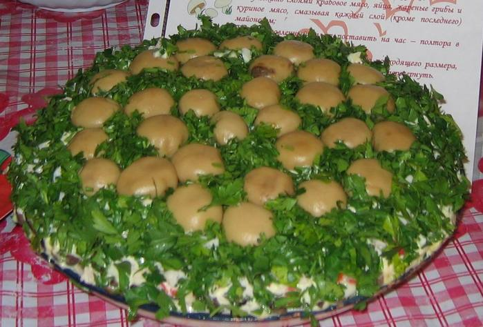 Салат грибная поляна рецепт и
