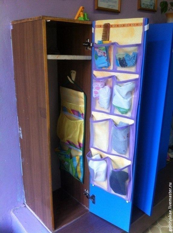 Карманы для шкафов в детский сад своими руками