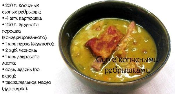 Рецепт супа с копченостями пошаговый рецепт