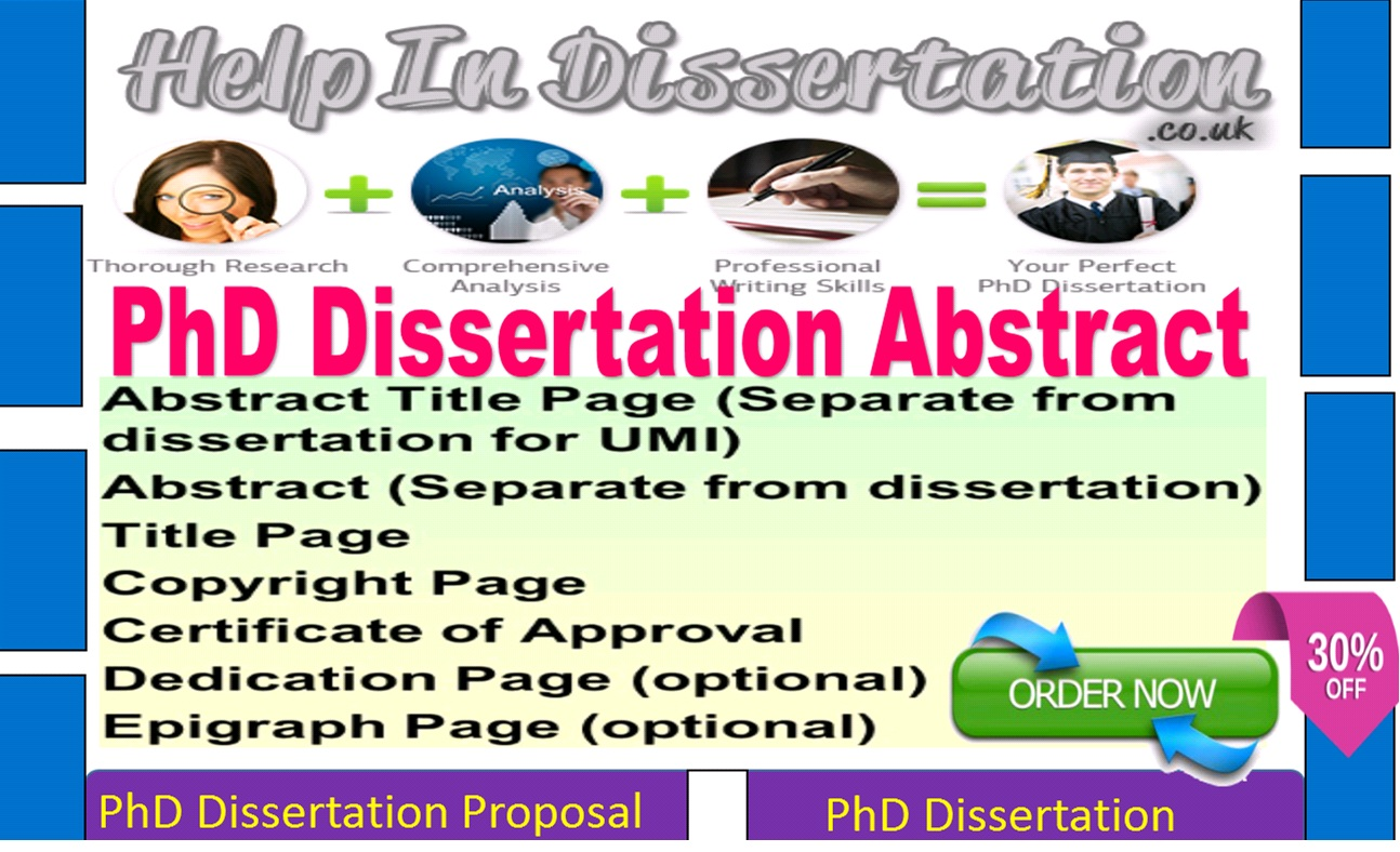 Get Help Writing A Dissertation Abstract
