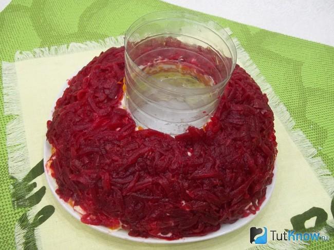 Гранатовый браслет салат классический рецепт с говядиной