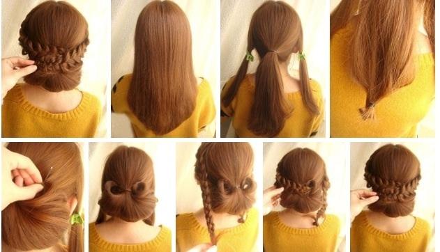 Прически на среднею длину волос самой себе