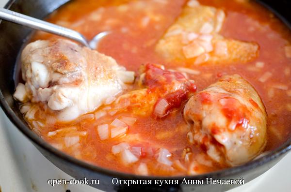 Рецепт чахохбили с курицей пошагово