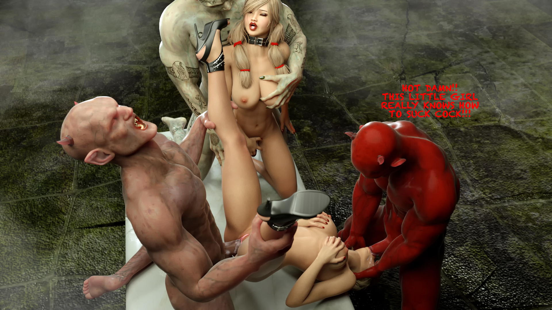 Hentai women slaves fucked by demons xxx videos