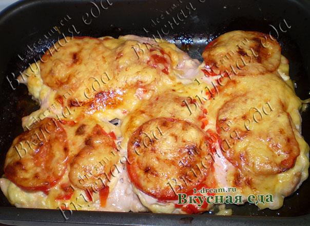 Рецепт курицы запеченной с картошкой и сыром