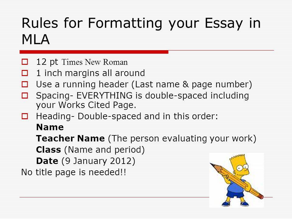 Essay Format - Essay Writing Help