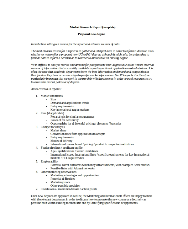 Market Research Proposal Template - Get Free Sample
