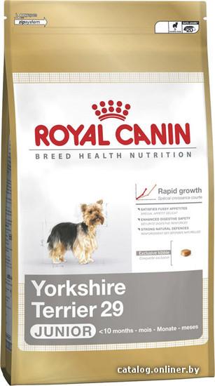 Корм royal canin yorkshire terrier 29 junior