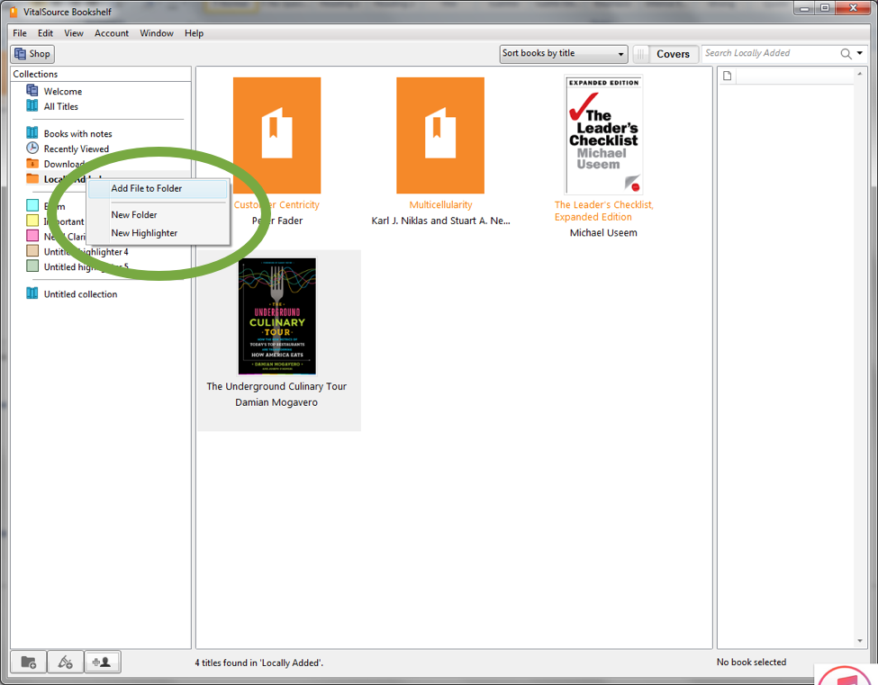 Downloading e-books from VitalSource