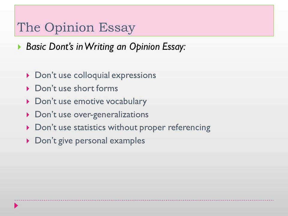 Opinion Essays: Examples, Topics, Titles, Outlines