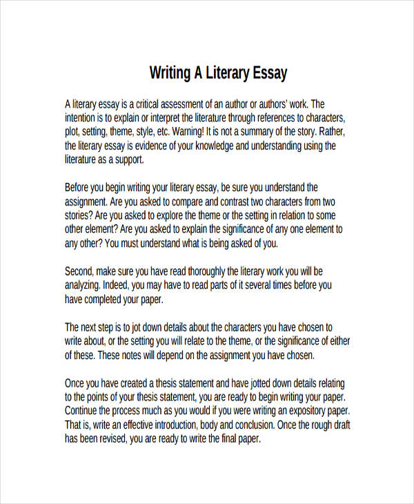 First draft essay sample