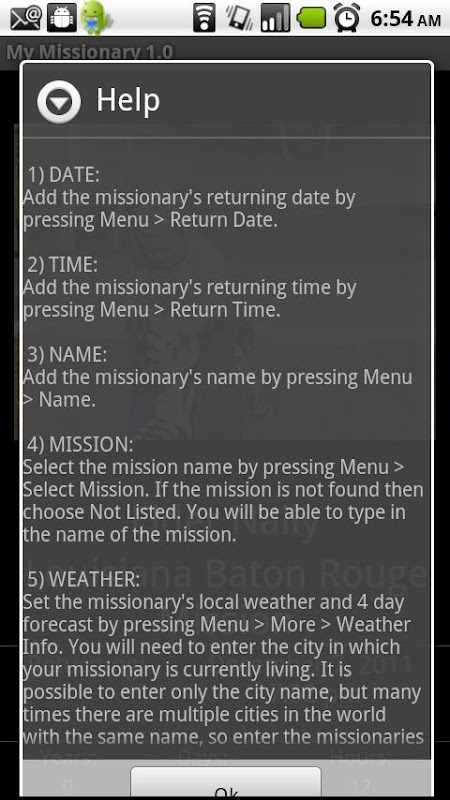 return missionaries dating