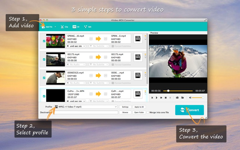 4 to mov - Convert mp4 to mov free online