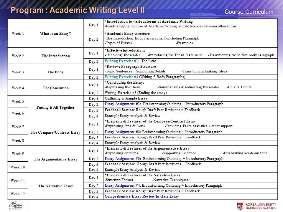 Essay writing masters level