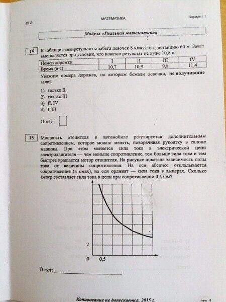 Егэ по математике вариант 6 ответы 2015