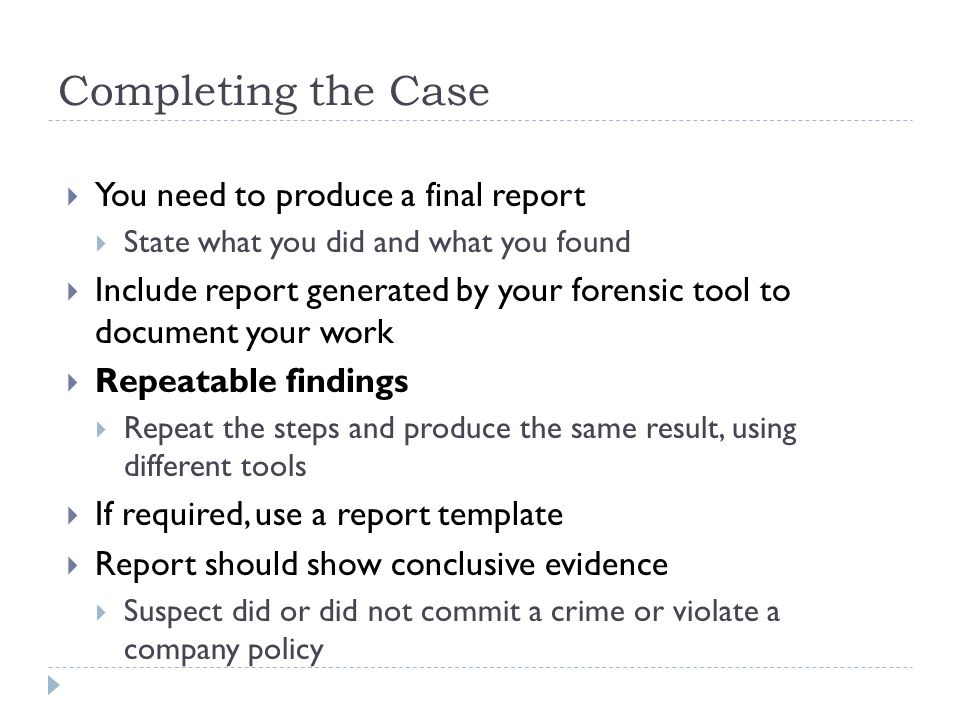 Forensic report writing - ResearchGate