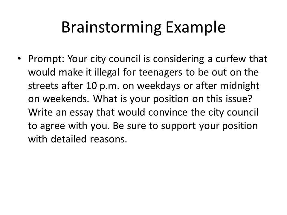 Brainstorming college essay