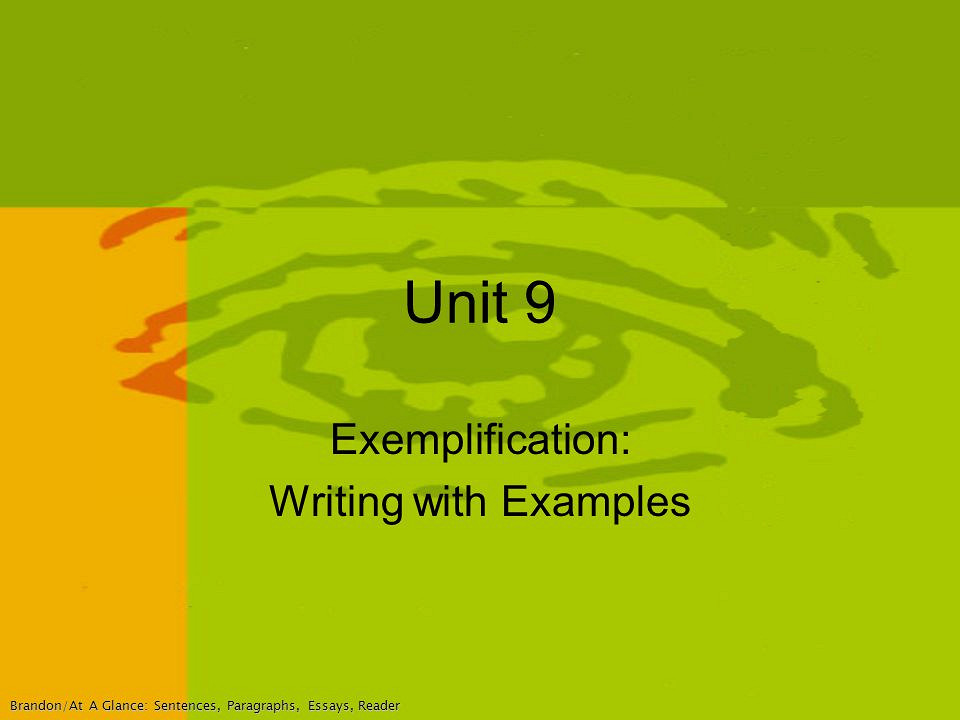 What Are Some Ideas for Topics for an Exemplification