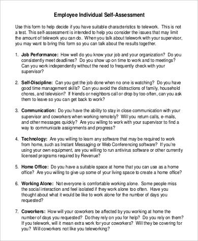 Self Evaluation - Homework Help
