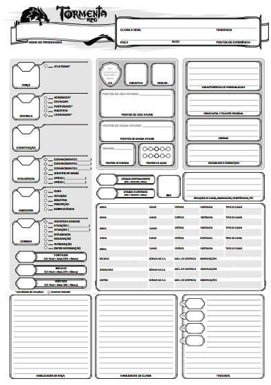 5e character sheet Fillable Printable Editable PDF