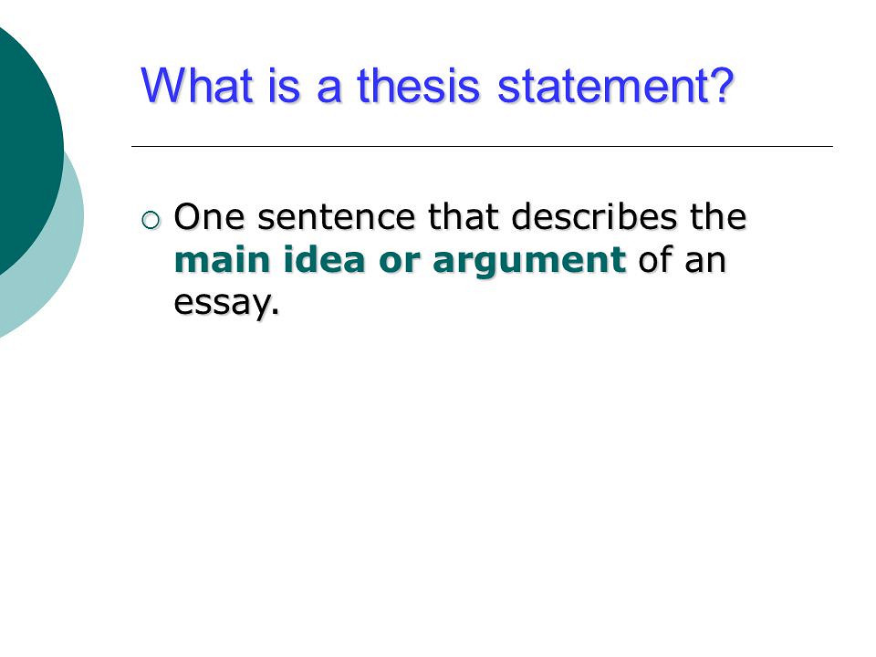 Thesis - Definition of Thesis by Merriam-Webster
