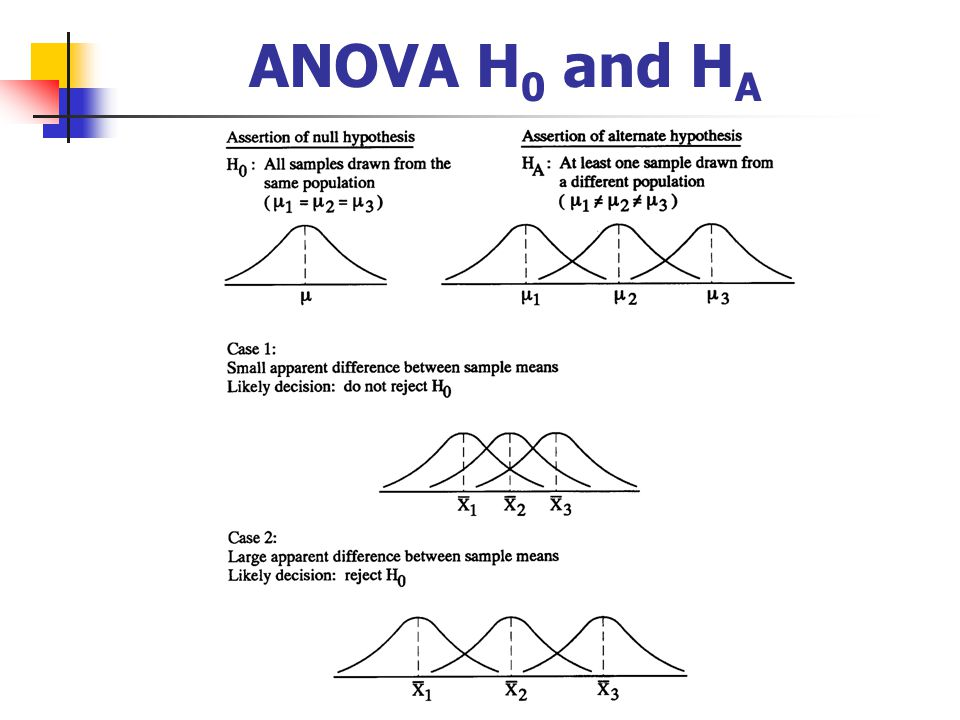 Two way anova hypothesis