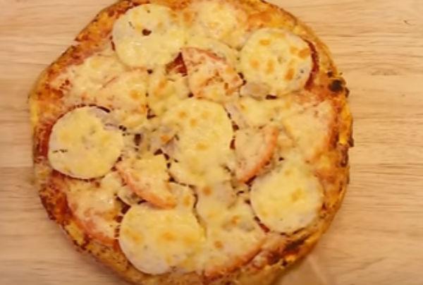 Быстрая пицца из батона в духовке рецепт пошагово