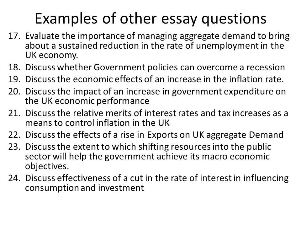 An Extended Essay in Economics – Digging a Little Deeper