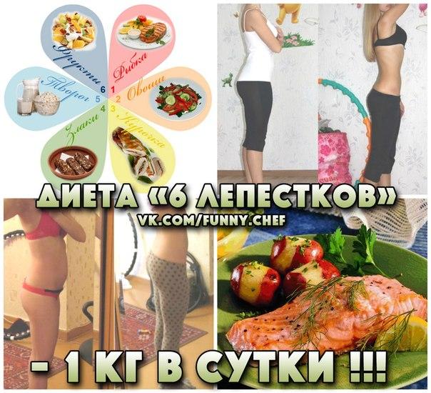 Быстрая диета 6 дней 6