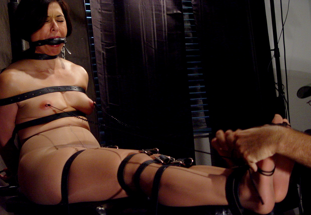 Nylon forced orgasm feet tickle