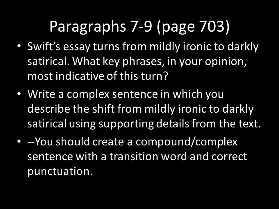 A modest proposal essay ideas