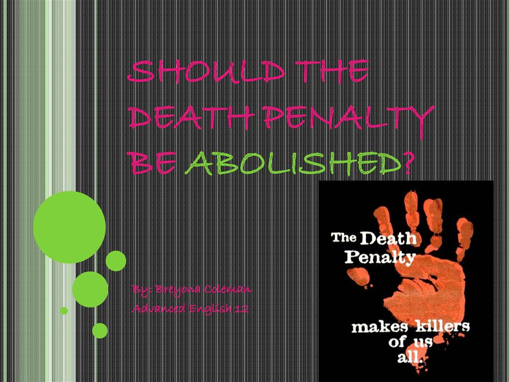 An Excellent Example Of A Death Penalty Research Paper