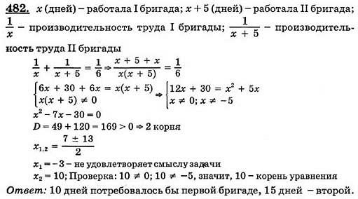 Решение домашнего задания по математике 8 класс