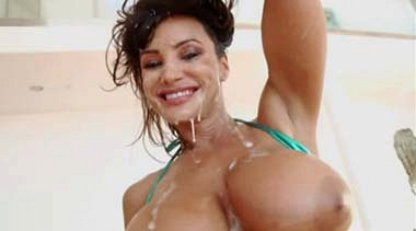 Brunette gets ass creamed on