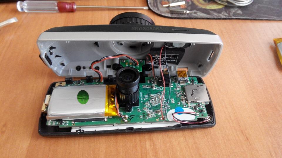 Замена аккумулятора в видеорегистраторе texet dvr 570fhd
