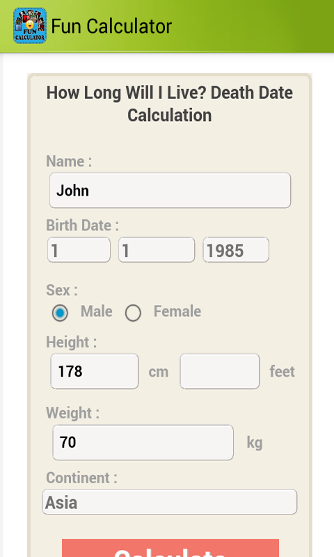 Absolute dating calculator