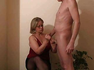 Woman sticks bottle up her ass