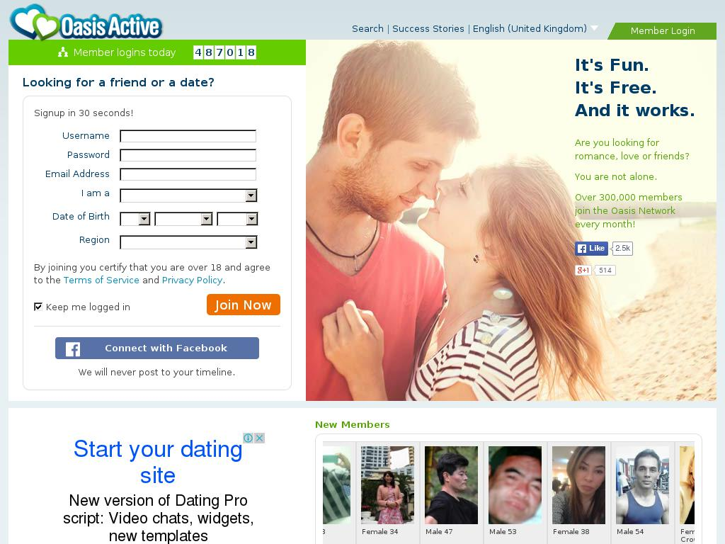 Oasis dating online