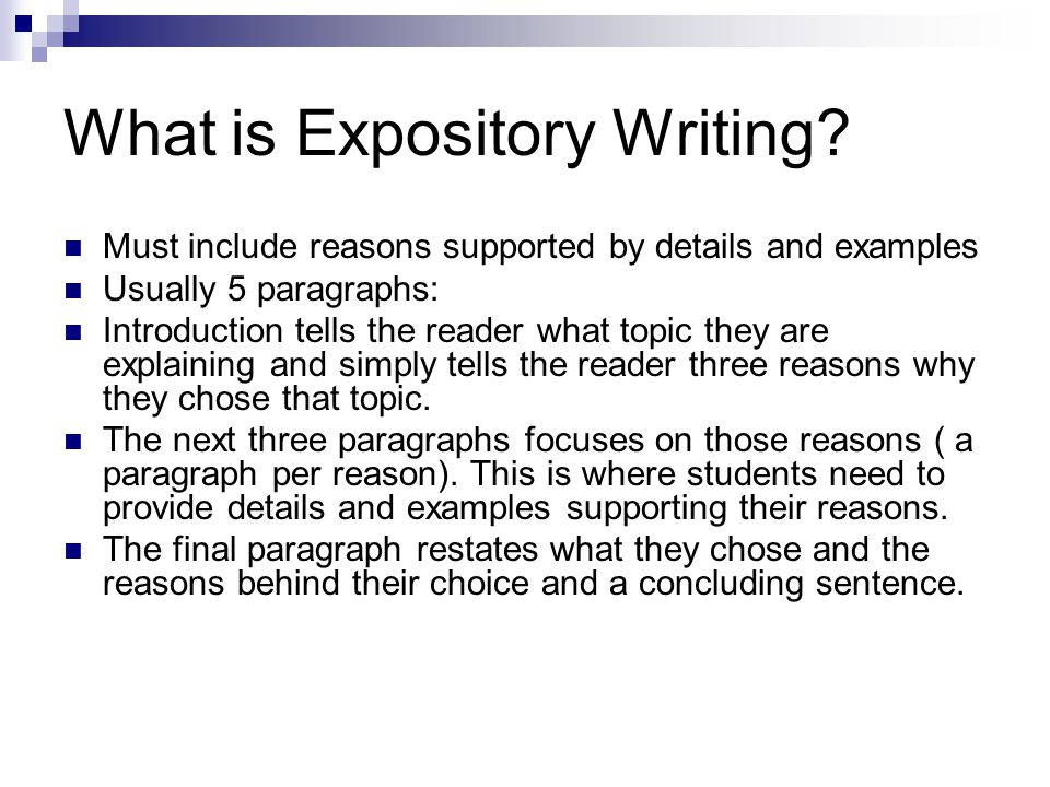 Topics for an expository essay