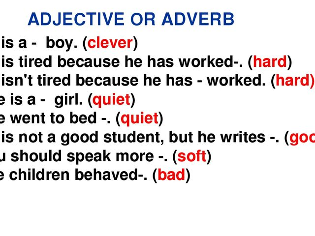 Exercises adverbs ly pdf