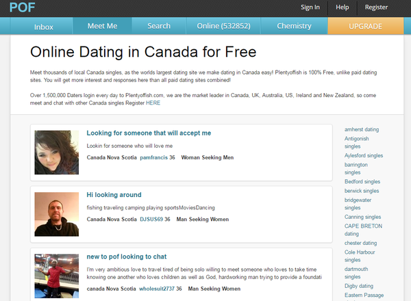Canada dating sites most popular