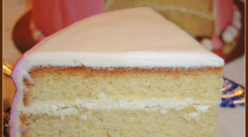 Рецепты бисквитный торт c маслянным кремом фото
