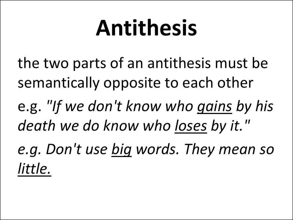 tithesis - Definition of antithesis in English by Oxford