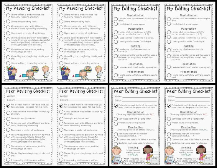 Checklist for writing a research paper