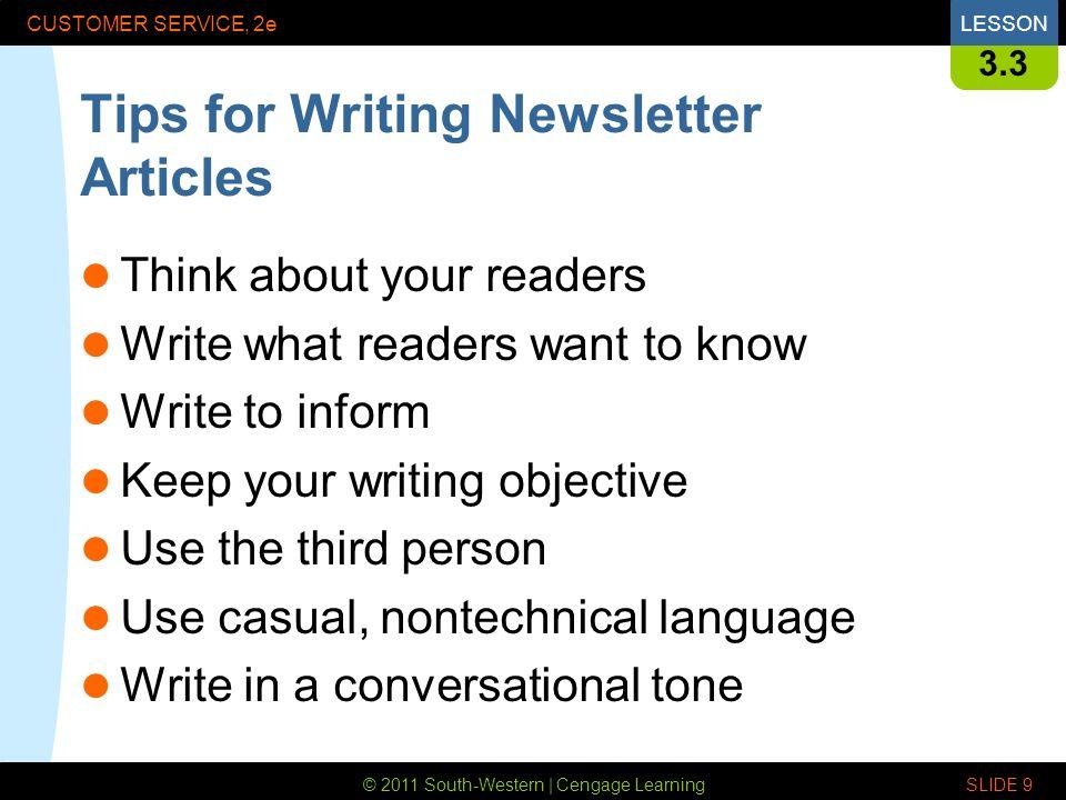 Write my newsletter idea