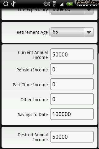 Tangerine retirement calculator free application
