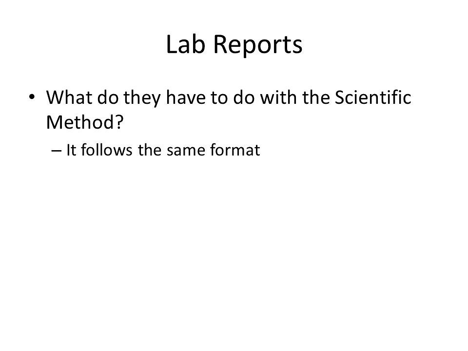 Lab+Report+Template - Scientific Method - Science