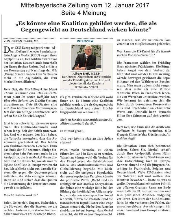 Mittelbayerische Zeitung: Kommentar zu Deutschland sucht