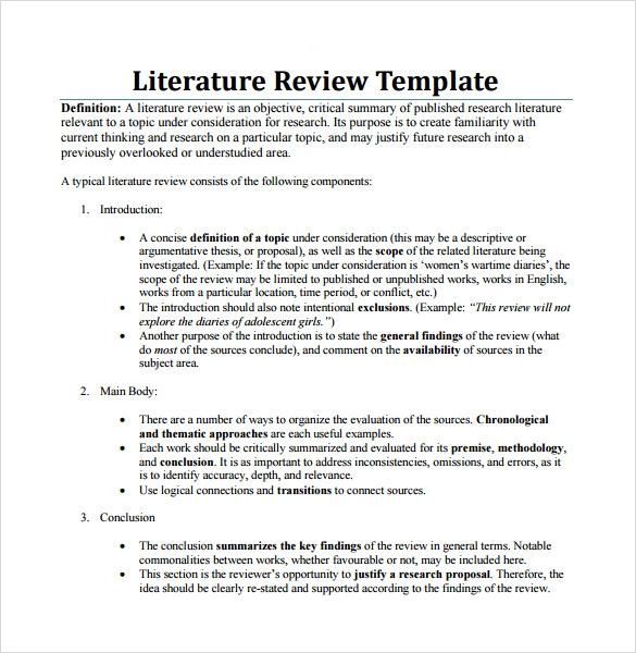 Write my example of review of related literature