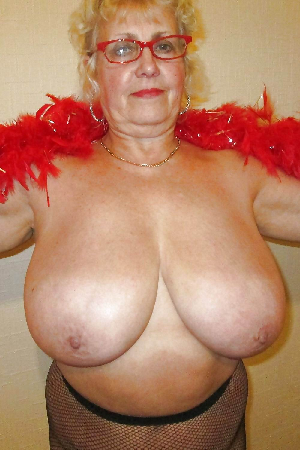 Naked grandmother with big tits having sex